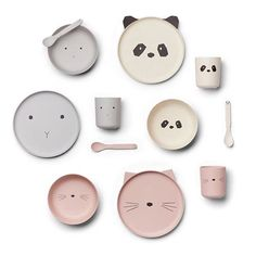 We've got you little one covered - bibs, beakers, highchair, placemats and lots of choice of tableware including these cuties -… Baby Plates, Kids Plates, Scandinavian Nursery Decor, Bamboo Dishes, Kids Dishes, Plate Sets, Tableware, Kitchenware, Sgraffito