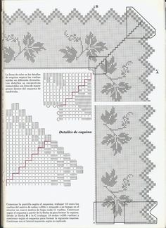 "Photo from album ""Вязание on Yandex. Filet Crochet, Crochet Lace, Crochet Stitches, Diy And Crafts, Diagram, Album, Embroidery, Knitting, Yandex Disk"