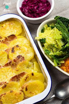 Syn free bacon, onion and potato bake slimming world food an Slimming World Eating Out, Slimming World Recipes Syn Free, Healthy Eating Recipes, Diet Recipes, Cooking Recipes, Recipies, Syn Free Food, Low Carb Side Dishes, Dinner Sides