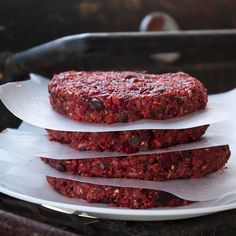 Veggie Burgers knock off Houston's recipe. *should call them black bean burgers. Very flavorful. I morphed two recipes, only adding two chopped prunes and 1 1\2 c. Brown rice...but 2 c. rice might help it hold together better. Also processed oats for the bran and added til it held together well. Do refrig for at least 1 hr.