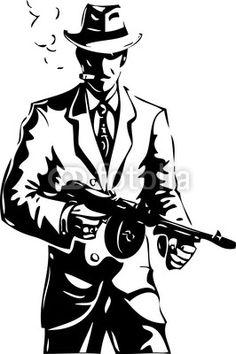 사진: drawing - the gangster - a mafia © medweddyla #41027265