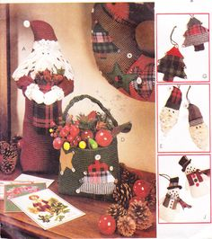 Craft Sewing Pattern Christmas Decor Ornaments by Sutlerssundries, $4.99