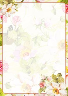 56 Ideas wall paper flores ilustracion for 2019 Framed Wallpaper, Graphic Wallpaper, Flower Wallpaper, Borders For Paper, Borders And Frames, White Pattern Background, Old Paper Background, Printable Scrapbook Paper, Paper Frames