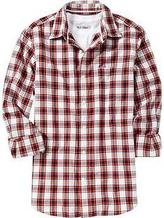 Men's Everyday Classic Regular-Fit Shirts | Old Navy