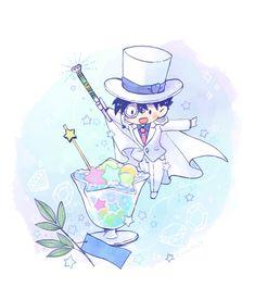 Kaito Kuroba, Detective Conan Wallpapers, Amuro Tooru, Detektif Conan, Magic Kaito, Cool Art Drawings, Anime Chibi, Cute Pictures, Gosho Aoyama