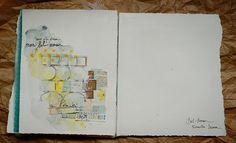 Voici un nouvel art journal !   Je l'ai réalisé grâce à l'atelier en ligne sur entrartistes.fr et surtout grâce à notre talentueuse Pret...