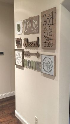 Love my new gallery wall!! Found most everything at Hobby Lobby and Michaels.