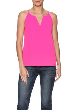 Hot pink double layer halter cami top.  Pleat Neck Cami by y&i clothing boutique. Clothing - Tops - Blouses & Shirts Clothing - Tops - Sleeveless Dallas Texas Austin Texas Marina San Francisco