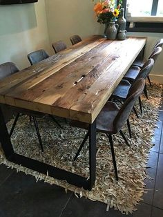 Altholzideen Furniture A Guide To Rudimentary Information For Everlasting Finger-Nails This is why, Beach House Furniture, Dining Furniture, Rustic Furniture, Home Furniture, Dining Room Table Decor, Dining Room Design, Dining Rooms, Esstisch Design, Dinner Room