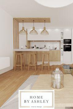 Small Cottage Kitchen, Kitchen Design Small, Dining Room Small, Small Apartment Interior, Kitchen Decor, Interior Design Kitchen, Kitchen Furniture Design, Home Kitchens, Kitchen Design