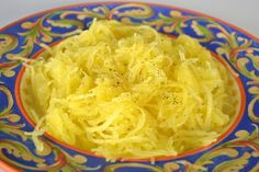 How To Cook Spaghetti Squash: Bake/Boil/Microwave/Crock Pot// BAKE IT: Pierce the whole shell several times with a large fork or skewer and place in baking dish.Cook squash in preheated 375°F oven approximately 1 to 1-1/2 hours or until flesh is tender, It took about 1 1/2 hours for mine to tender up.