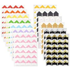 Gnognauq 15 Sheets Photo Picture Corners Self Adhesive Stickers for DIY