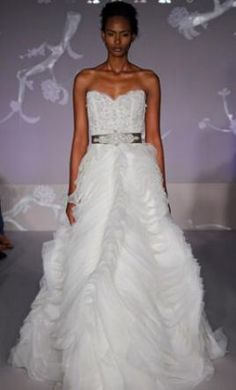 My dream wedding dress on pinterest gowns wedding for How much is a lazaro wedding dress