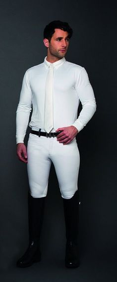 Mens Breeches With Riding Boots.