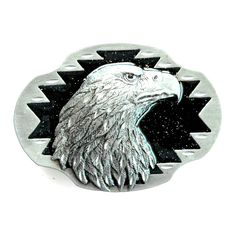 Eagle+Head+3D+Siskiyou+Pewter+Belt+Buckle