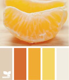 peeled hues orange and muted tans