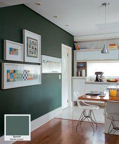 Novas tintas: paredes mais limpas, impermeáveis e sem fissura - Casa. Suvinil Verde Lousa.