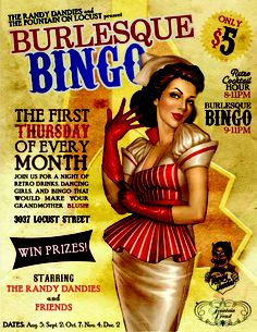 Booze, Broads & Bingo 1st Thursday of every month at The Fountain on Locust!