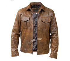 Vintage Copper Rub-off Leather Jacket
