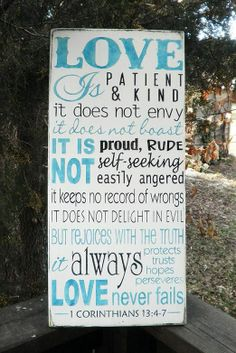 Love is Patient love is kind. 1 by mockingbirdprimitive on Etsy, $39.95