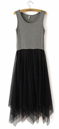Mesh Mosaic Sleeveless Dress
