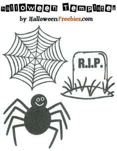 halloween craft templates | ... halloween crafts halloween patterns and templates spider crafts leave