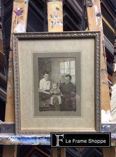 """This """"aged"""" mat design highlights the beauty of this old photograph."""