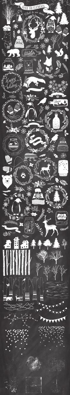 20%Off -Winter collection +20 Bonus by Graphic Box in Graphics Illustrations