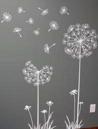 dandelion stencil - Google Search