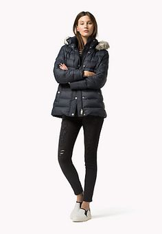 c83bc1f946c0c1 Padded Down Jacket Fur Coat, Winter Jackets, Suits, Fashion Outfits, Tommy  Hilfiger