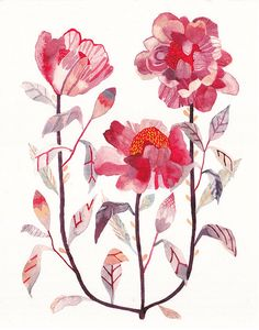 Tree Peony Archival Print by unitedthread on Etsy, $20.00