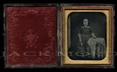 1/6 1850s Daguerreotype Photo / Cute Little Girl by diabolus