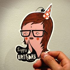 Not sure how I would feel about getting this on my birthday.  Jordan Metcalf on behance