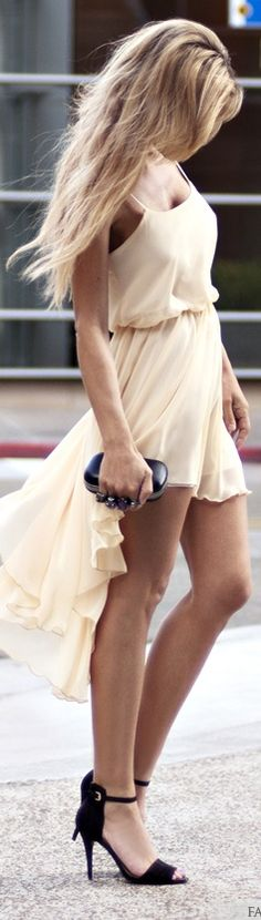 #street #fashion nude dress @wachabuy