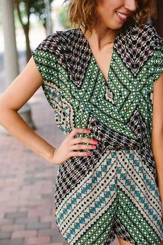 A tribal romper is the perfect thing to wear on date night! You'll love this summer fashion trend.
