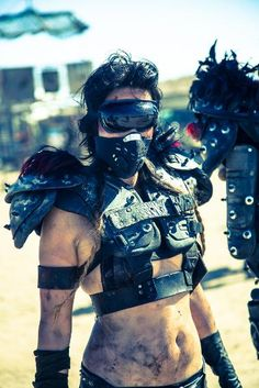 Body armor might be key for a good costume.  I will ask around for people who played sports.  I'm going to look for lacrosse pads