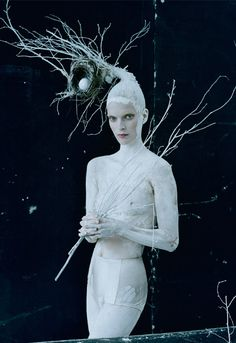 """Mirte Maas in """"Come to Dinner"""" for Vogue Italia May 2015 photographed by Tim Walker"""