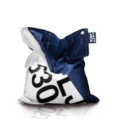 LazyBeanbag - Outdoor Sitzsack aus Segeltuch, Navy, Large|Preis:$359.09|www.3sails.eu
