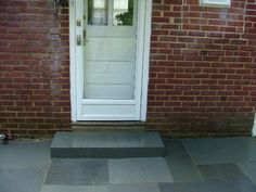 We Show The Way We Construct Steps Using Wall Stones With Photos & Descriptions - Newtown Square PA from Robert J. Front Porch Steps, Back Steps, Patio Stairs, Backyard Patio, Newtown Square, Exterior Trim, Stepping Stones, Landscape Design, Garage Ideas