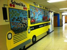 Image result for magic school bus weather themed hallway