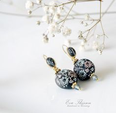 Georgia.  Gorgeous Handmade Polymer Clay Earrings by Eva Thissen.