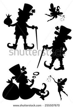 Image result for leprechaun silhouette