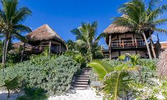 Encantada, a beachfront hotel in Tulum www.differentworld.com/MXENC $165 - ask for beach front suite