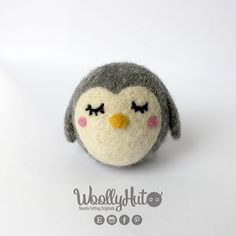 Needle Felted Owl Felted Owl Handmade Owl Plush by WoollyHut