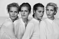 Yasmin Le Bon, Eva Herzigova, Nadja Auermann and Stella Tennant for Giorgio Armani 2016