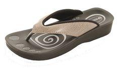 Aerowalk sandal med sejt snake mønster