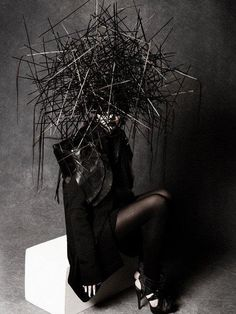 macabre | dark fashion | goth | obscure | high fashion editorial