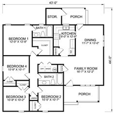 Farmhouse House Plan 70816 | Narrow Lot House Plans, Bedrooms And House