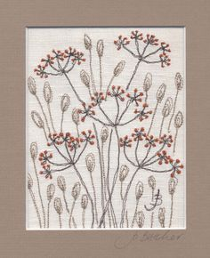 Jo Butcher, Embroidery Artist - Fennel