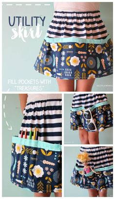 utility skirt with lots of fun pockets!